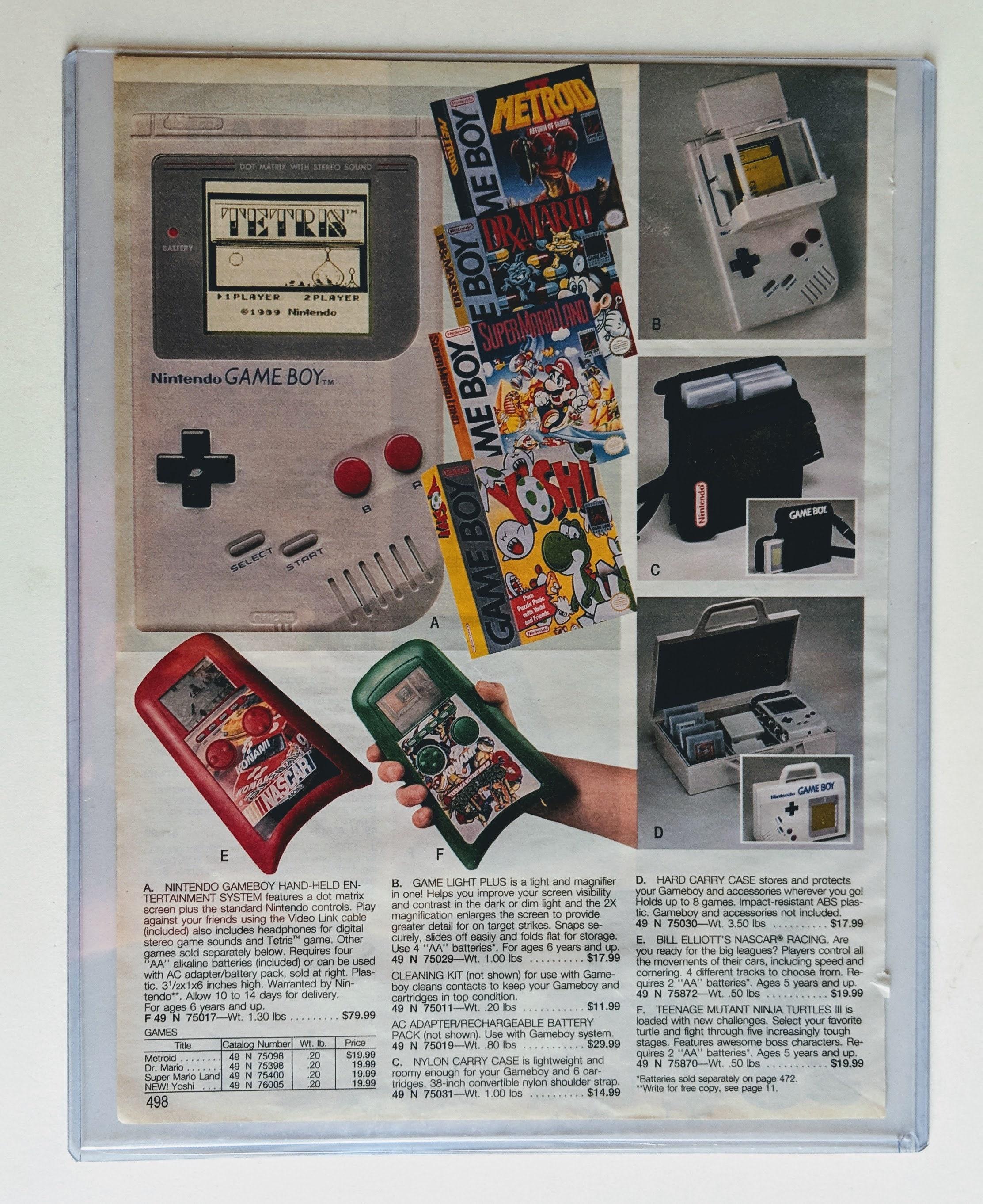 Original 90s Retro Sears Wish Book Ad Vintage Game Room Mancave Wall Decor