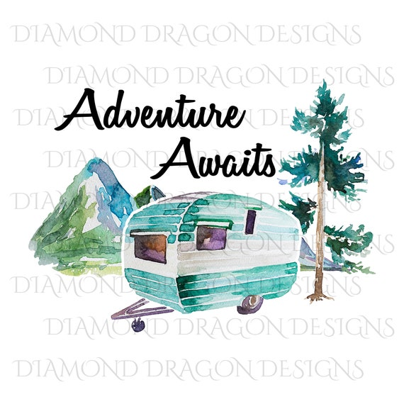 CAMPING PAINTING from Photo Personalized Camping Gifts Gifts for Motorhome Owners Watercolor on Canvas Watercolor Painting
