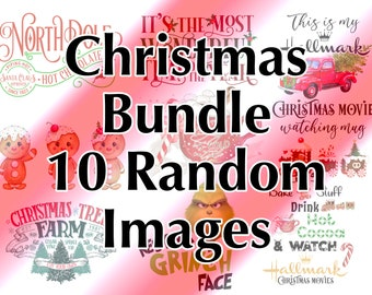 Christmas Tumbler Waterslides, Holiday, Laser Printed Waterslides, Mystery Lot, Grab Bag, Random Image Bundle,No Sealing,Decals for Tumblers