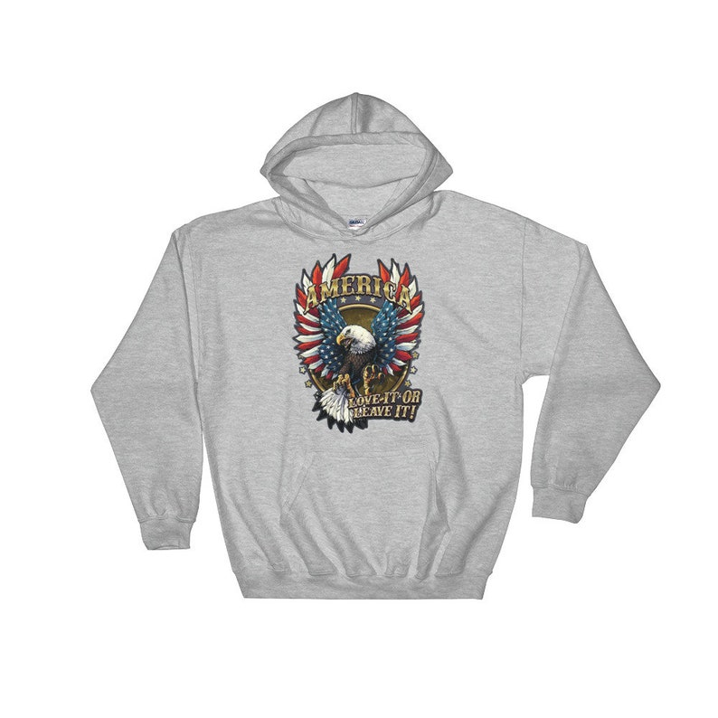 release date 93cb6 cfa57 America patriotic military veterans hoodie for him and her