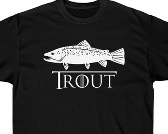 2ebe8d6809f6 Brown trout t shirt | Etsy