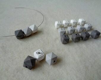 5x8mm 30 Pieces Czech DIAMONDUO Beads 8812026 Concrete Grey 2 Hole