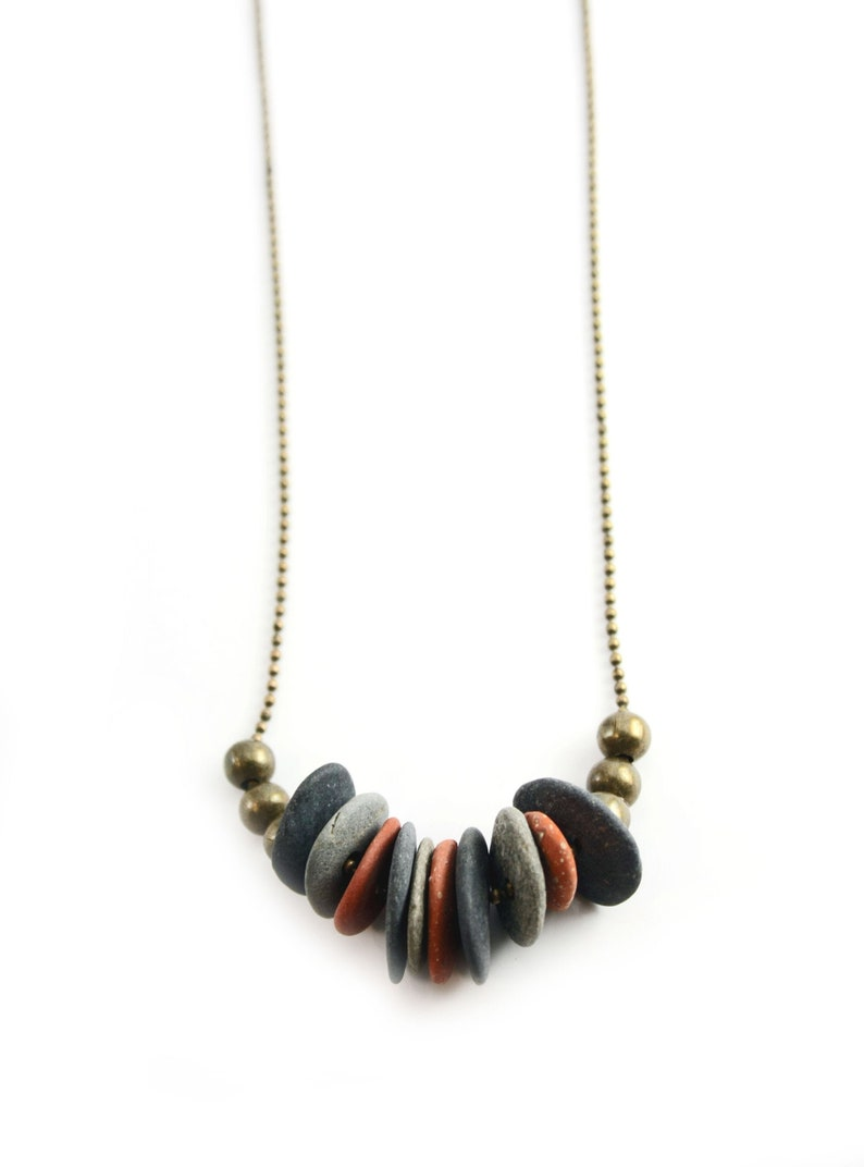 Mediterranean stone pendant / Mediterranean necklace / image 0
