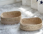 Woven Basket Home Supplies Bedroom Sundries Table Food Clothes Storage Container Holder Convenient Accessories
