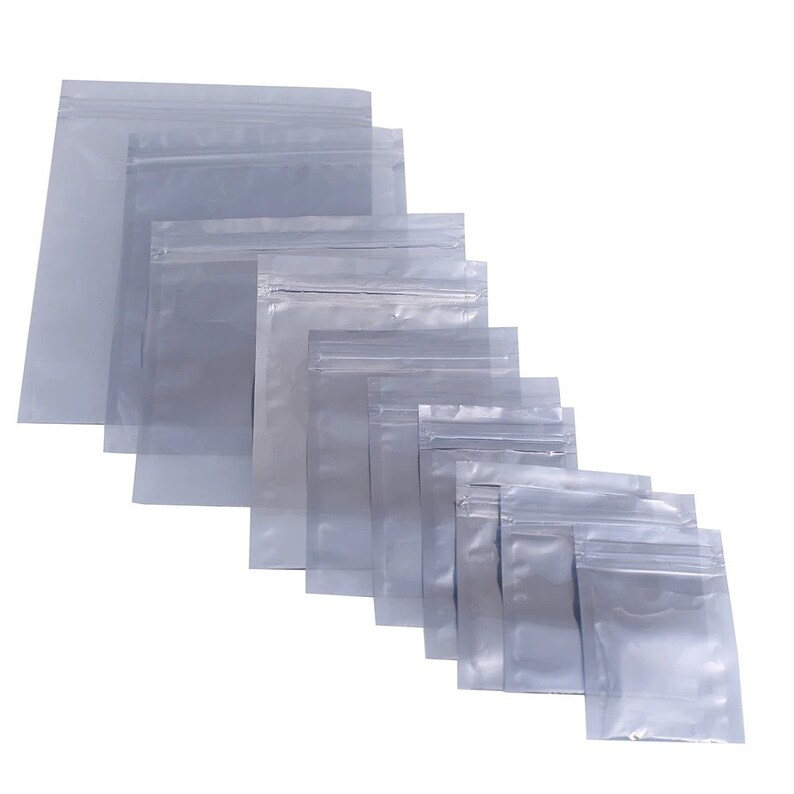 Fast shipping 9x13cm 100pcslot Translucent Barrier Moisture Proof Shielding Bag ESD Anti Static Bags For Electronic components