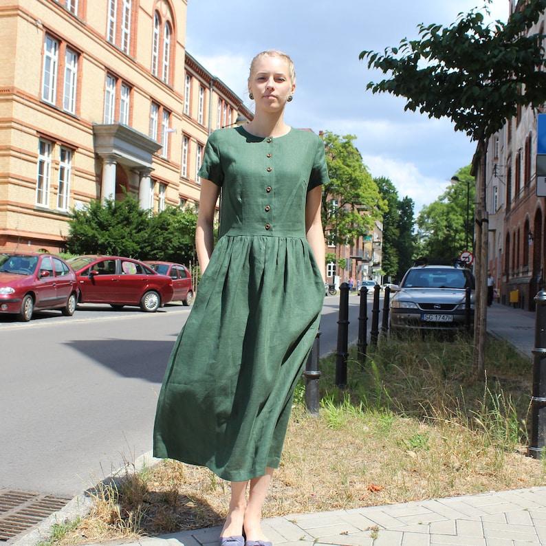 Linen women dress linen summer dress, linen casual dress