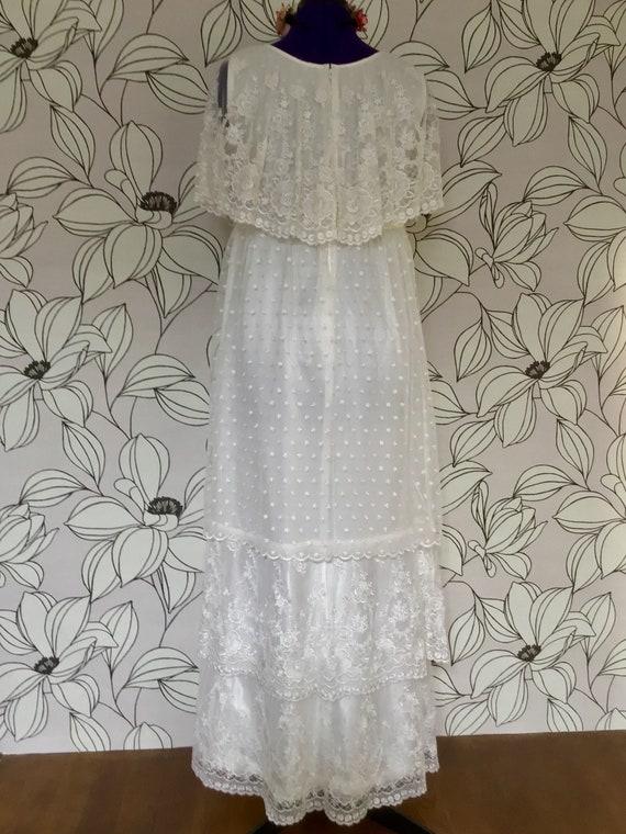 Romantic ruffled vintage boho wedding dress - image 4