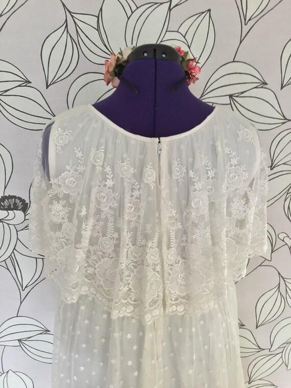Romantic ruffled vintage boho wedding dress - image 6