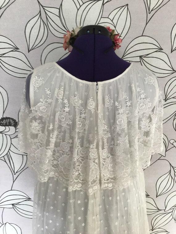 Romantic ruffled vintage boho wedding dress - image 5