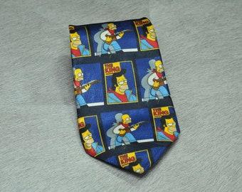 Bart Simpson Vintage Tie Simpsons Tie The Simpsons Tie Simpsons Necktie Marge Simpson Cartoon Tie 1990s Homer Simpson Matt Groening