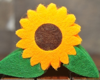 706cefbce83 Sunflower hand made boutonniere. Felt product. For guests