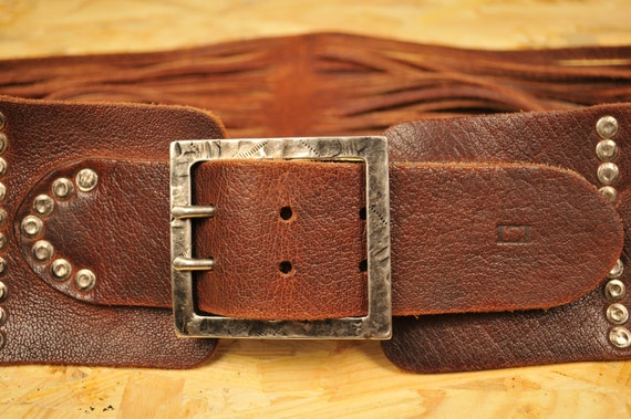Vintage LEYVA Womens Belt Made in Spain Wide Belt