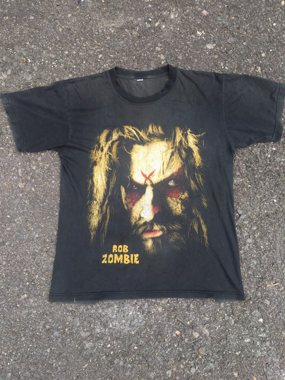 vintage rob zombie t shirt early 2000