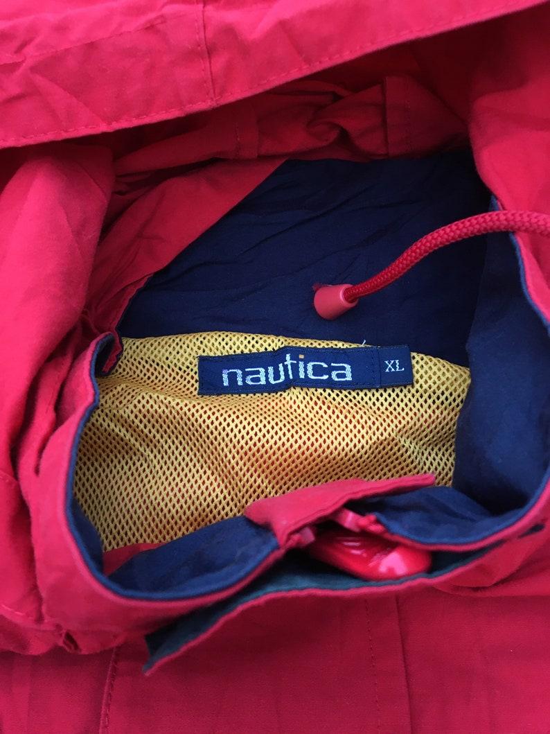 vintage nautica 90s colourblock jacket