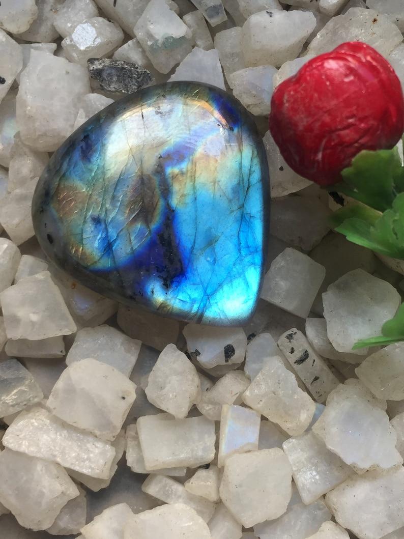 61 Cts Heart shape Spectrolite Labradorite loose Labradorite gemstone Blue flash Labradorite Natural Blue Labradorite cabochon Code;R15