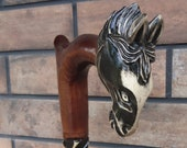 Cane Mustang Horse Walking stick Handmade Wood Carving Strong stick Exquisite design Unmatched Style