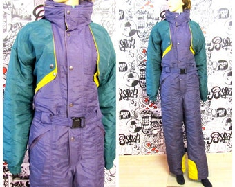 3200d51c4b womens ski suit Vintage mens ski suit purple ski suit Vintage Skiing  Tracksuit Winter Snowsuit snow suit ski clothing Warm suit Size XL