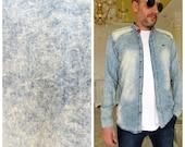 denim Long sleeve shirt mens 90s Clothing mens shirt Vintage mens denim shirt jeans shirt Cowboy Shirt Button Up Shirt western shirt Size XL