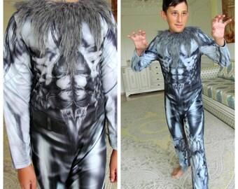 Baby Wolf Werewolf Costume Cute Infant Toddler Halloween Fancy Dress 0-24 Months