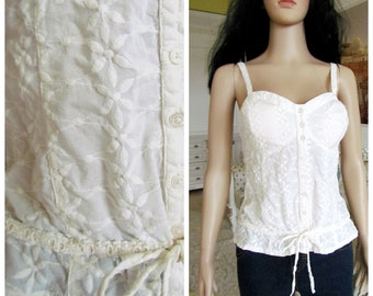 e24f0fbc3 IVORY Camisole Top Clothing Edwardian Clothing Antique top Victorian  Lingerie Victorian top Victorian style Edwardian top corset cover 10