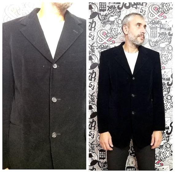 Mens blazer XL Mens black velvet blazer Mens jacke