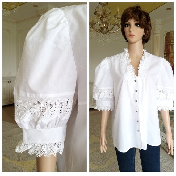 Victorian Clothing  puffy sleeve Blouse  Victorian
