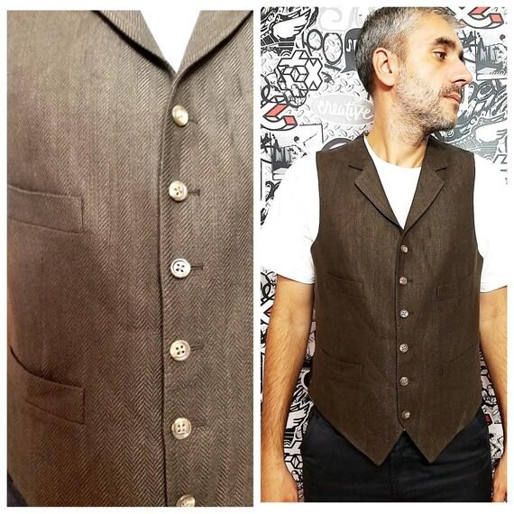 Mens Tweed Vest  suit Vest Mens Vest groomsman gif
