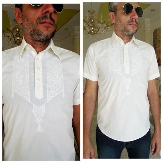 mens white shirts mens embroidery shirts mens ethn