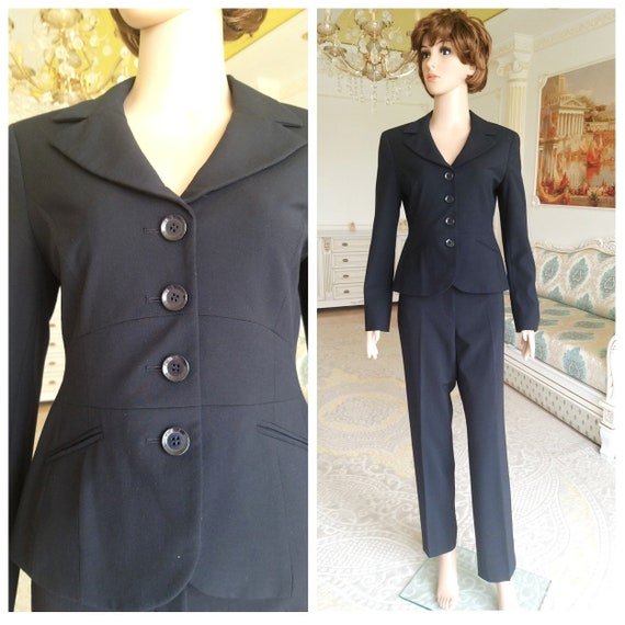 Womens suit vintage Womens pants suit pants set mo