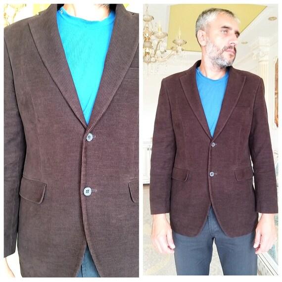 Mens brown velvet blazer mens velvet jackets Mens