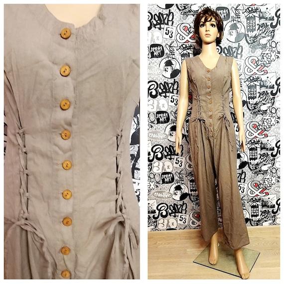 Linen Clothing Linen jumpsuit  Linen Coveralls Lin