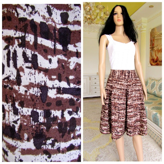 brown linen skirt African Clothing african fashion