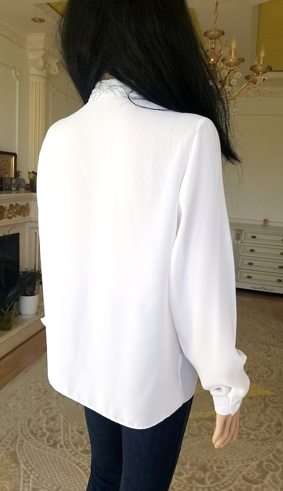 pleated white blouse Victorian Clothing Victorian… - image 8
