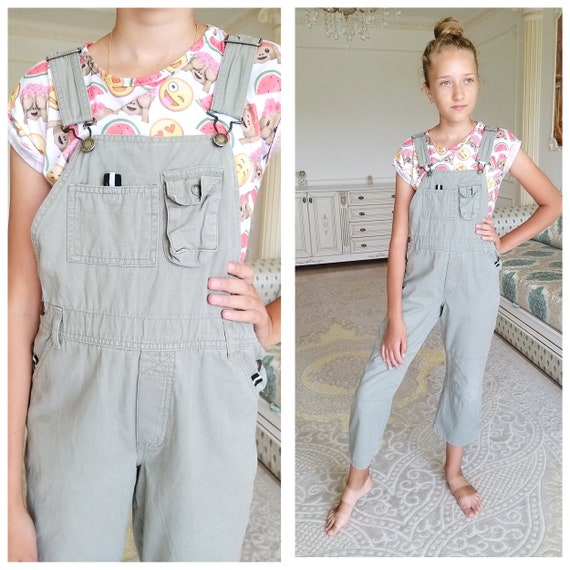 girls Overalls 10 One Piece olive green  Overalls
