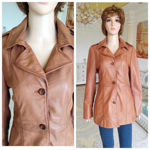 70s retro blazer womens Leather Clothing Vintage b