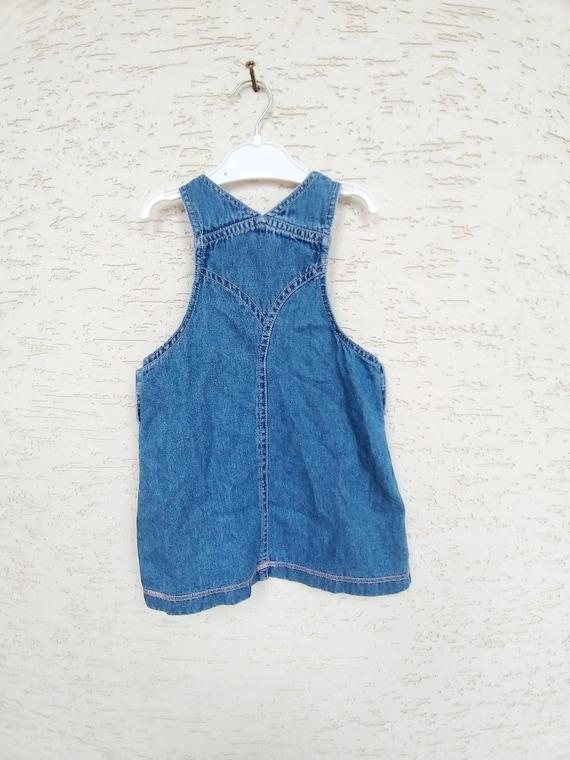 12-18 months denim girls dress embroidered dress … - image 7