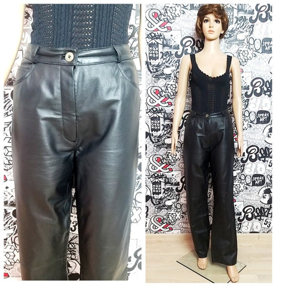 womens Leather pants M Leather Clothing black Leat