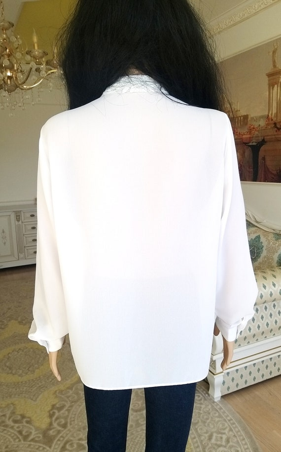 pleated white blouse Victorian Clothing Victorian… - image 7