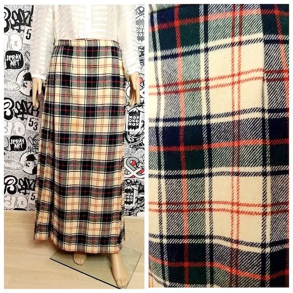 wrap skirt plaid skirt wool skirt tartan skirt wom