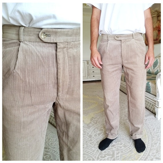 Mens Pants Mens Corduroy pants Beige Corduroy pant