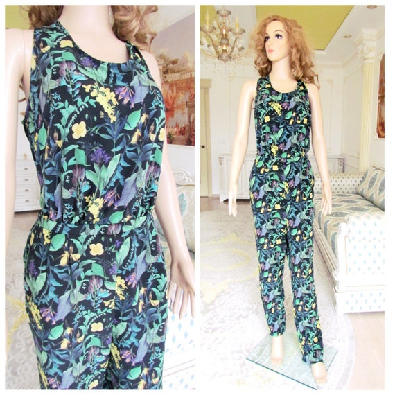 floral Overall vintage womens overall pants jumpsu