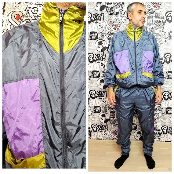 gray track suit L Mens track suit colorful sport s