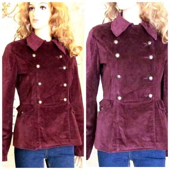 military Clothing Vintage military blazer velvet b