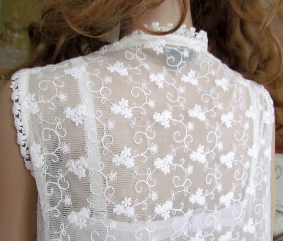 lace blouse white blouse Victorian Clothing Victo… - image 3