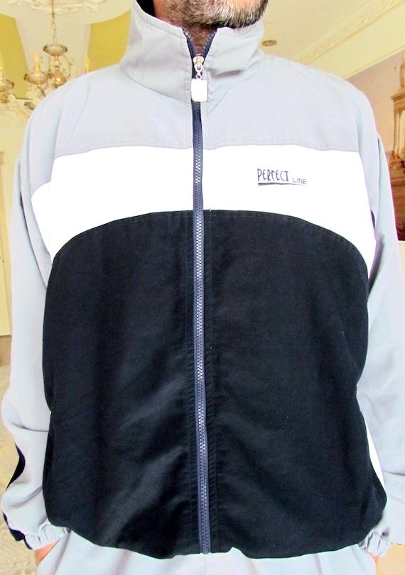 Mens sport suit vintage gray track suit Mens trac… - image 5