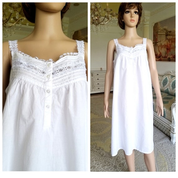 60s Antique Nightshirt vintage cotton Nightshirt … - image 1