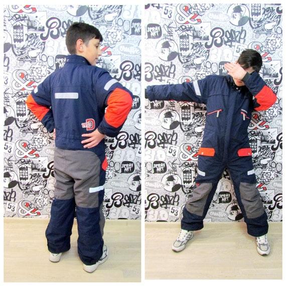 80s ski suit multicolor ski suit Kids Ski suit mou