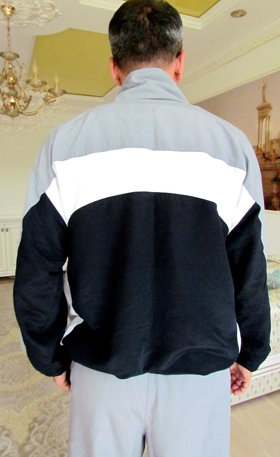 Mens sport suit vintage gray track suit Mens trac… - image 7