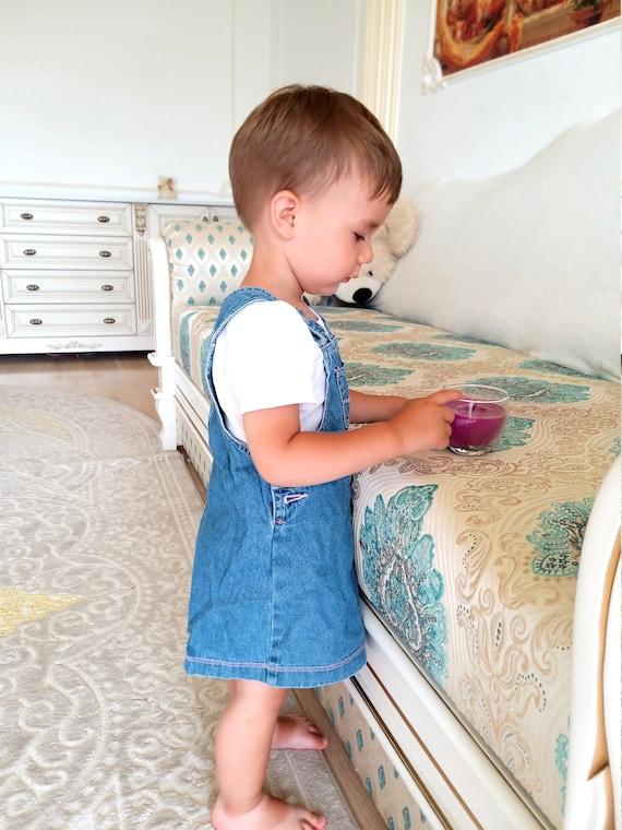 12-18 months denim girls dress embroidered dress … - image 4