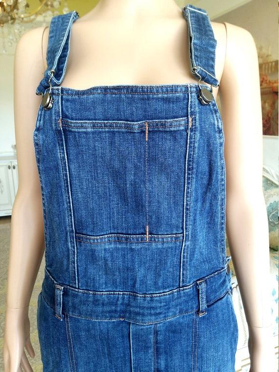 apron dress XL Denim skirt jean skirt Denim Pinaf… - image 3